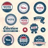 Distintivi di elezione dell'annata Fotografia Stock Libera da Diritti