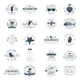 Distintivi di estate Immagine Stock Libera da Diritti