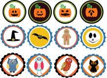 Distintivi di Halloween illustrazione vettoriale