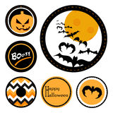 Distintivi di Halloween Fotografie Stock Libere da Diritti