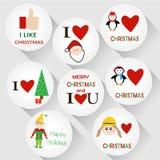 Distintivi di Natale Fotografia Stock Libera da Diritti