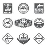 Distintivi di servizio dell'impianto idraulico illustrazione di stock