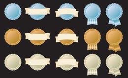 Distintivi di tappo di bottiglia Fotografia Stock Libera da Diritti