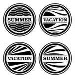 Distintivi di vacanza e di estate Immagine Stock Libera da Diritti