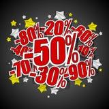 Distintivi di vendita di hard discount illustrazione vettoriale