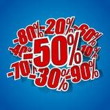 Distintivi di vendita di hard discount illustrazione di stock
