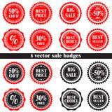 Distintivi di vendita di vettore Immagine Stock Libera da Diritti