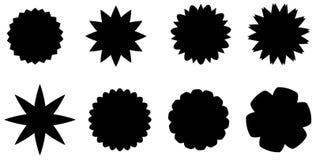 Distintivi differenti di vettore dello sprazzo di sole Fotografie Stock