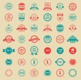 Distintivi ed etichette d'annata colorati vettore Immagine Stock Libera da Diritti