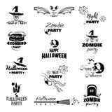 Distintivi felici di Halloween Fotografia Stock