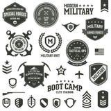 Distintivi militari illustrazione di stock