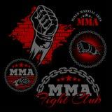 Distintivi misti dell'emblema di arti marziali del Muttahida Majlis-E-Amal illustrazione vettoriale
