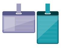 Distintivi nello stile piano Immagine Stock