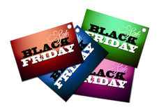 Distintivi neri di vendita di venerdì Immagine Stock Libera da Diritti