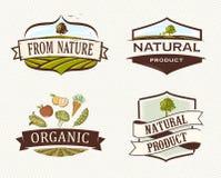 Distintivi organici d'annata & retro Fotografia Stock Libera da Diritti