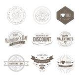 Distintivi Valentine Vintage Fotografie Stock Libere da Diritti