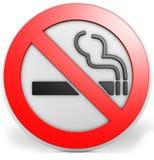distintivo 3D con un segno non fumatori Immagine Stock Libera da Diritti