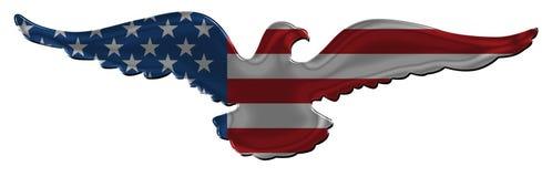 Distintivo americano 2 dell'aquila fotografie stock