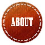 Distintivo arancio rotondo del modello con CIRCA il messaggio Fotografia Stock