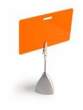Distintivo arancione Immagine Stock Libera da Diritti