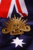 Distintivo australiano dell'esercito Immagini Stock Libere da Diritti