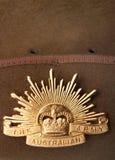 Distintivo australiano dell'esercito del sol levante Fotografia Stock Libera da Diritti