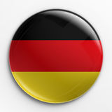 Distintivo - bandierina tedesca Immagini Stock