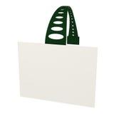 Distintivo in bianco, autoadesivo, modifica, isolata su bianco, 3d Fotografia Stock Libera da Diritti