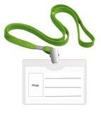 Distintivo bianco della scheda di identificazione Immagini Stock Libere da Diritti