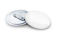 Distintivo bianco rotondo Fotografia Stock Libera da Diritti