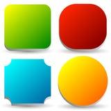 Distintivo, bottone, insieme dell'insegna nel colore luminoso 4 con leggero 3d illustrazione vettoriale