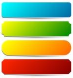 Distintivo, bottone, insieme dell'insegna nel colore luminoso 4 con leggero effetto 3d royalty illustrazione gratis