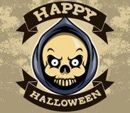 Distintivo capo di Halloween del reaper illustrazione di stock