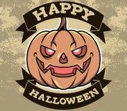 Distintivo capo di Halloween della zucca illustrazione vettoriale
