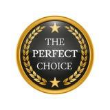 Distintivo choice perfetto su fondo bianco Immagini Stock