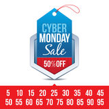 Distintivo cyber di vendita di lunedì Immagini Stock Libere da Diritti