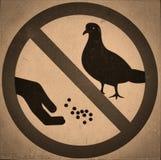 Distintivo d'alimentazione di proibizione Fotografia Stock