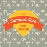 Distintivo d'annata di vendita di estate Fotografia Stock