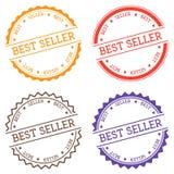Distintivo del best-seller isolato su fondo bianco Immagine Stock Libera da Diritti