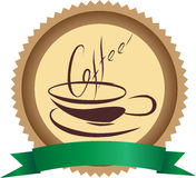 Distintivo del caffè fotografie stock libere da diritti