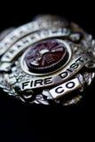 Distintivo del corpo dei vigili del fuoco Immagini Stock Libere da Diritti