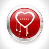 Distintivo del cuore di emorragia del virus dell'insetto del openssl di Heartbleed - vector eps10 illustrazione vettoriale