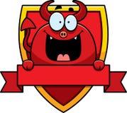 Distintivo del diavolo del fumetto Immagini Stock