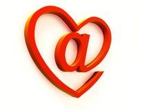 Distintivo del email Immagine Stock