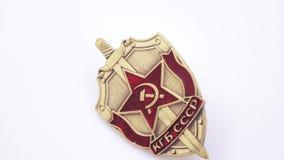 Distintivo del ferro KGB su bianco video d archivio