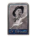 Distintivo del metallo Fotografia Stock Libera da Diritti