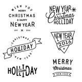 Distintivo del nuovo anno Immagine Stock
