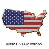 Distintivo del perno di metallo degli Stati Uniti d'America Fotografia Stock Libera da Diritti