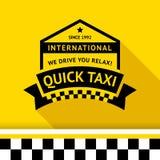 Distintivo del taxi con ombra - 05 Immagine Stock