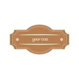 Distintivo del testo Immagine Stock